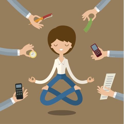 Kobieta podczas medytacji