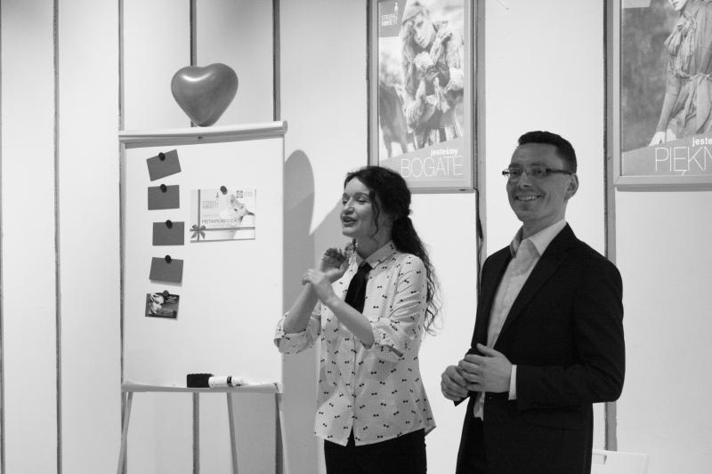 Joanna i Tomasz podczas wykładu dla Strefy Kobiet